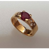 Bague DAGHER Or Rouge Diamant