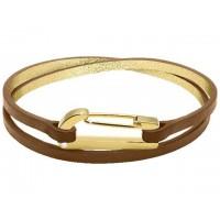 ROCHET Bracelet Acier/Cuir KIM BOUDEUSE
