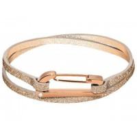 ROCHET Bracelet Acier/Cuir KIM SCINTILLANTE