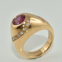 Bague DAGHER Saphir Rose Or Rouge