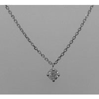 Collier DAGHER Diamants Or Blanc